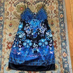 Sz 6 ICE spaghetti strap dress in blue and black
